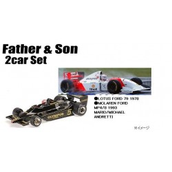 2 Car Set Lotus Ford 79 1978 McLaren Ford MP4/8 1993 Mario & Michael Andretti Minichamps 412789303