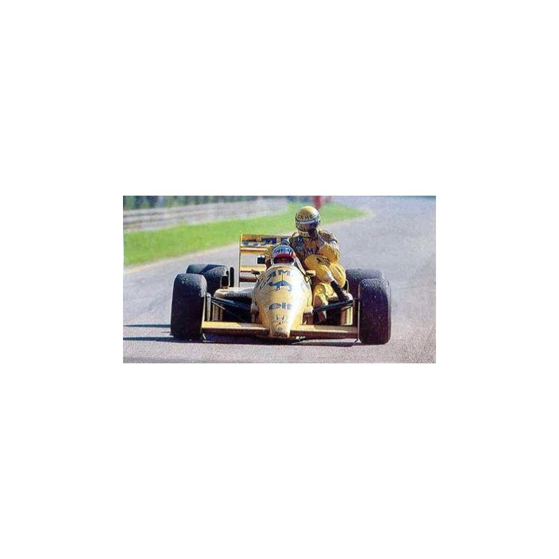 AVEC SENNA GP ITALIE 1987-540871811 MINICHAMPS 1//18 LOTUS HONDA 99T