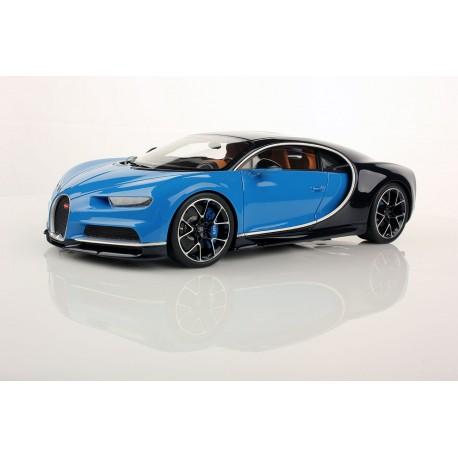 bugatti chiron blue carbon looksmart ls459h - miniatures minichamps