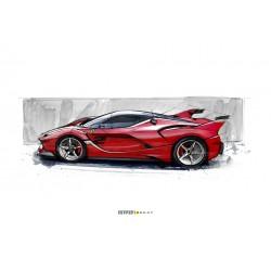 Ferrari FXX-K Rouge Looksmart LS1204