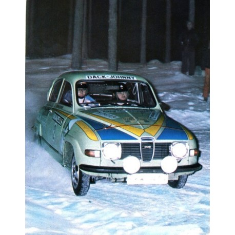Saab 96 V4 2 Rallye de Suède 1976 Blomqvist Sylvan IXO RAC236