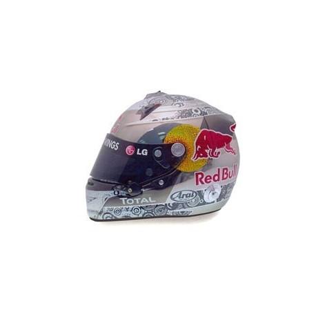 Casque 1/2 Arai Sebastian Vettel F1 Abu Dhabi 2010 Minichamps 321100105