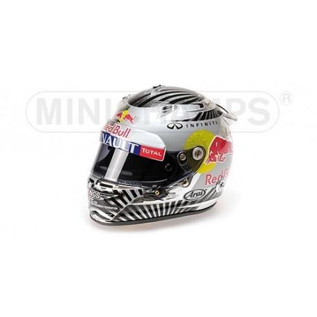 Casque 1/2 Arai Sebastian Vettel F1 Sao Paulo 2012 Minichamps 321120201
