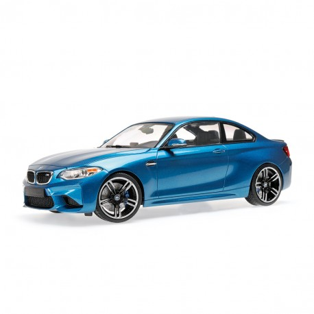 bmw m2 coup 2016 bleue minichamps 155026101 miniatures minichamps. Black Bedroom Furniture Sets. Home Design Ideas