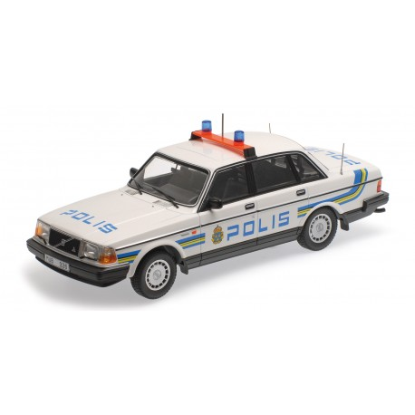Volvo 240 GL 1986 Police Suède Minichamps 155171490