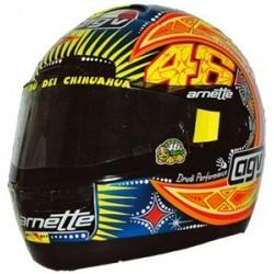 Casque 1/2 AGV Valentino Rossi WC Moto GP 2002 Minichamps 327020046