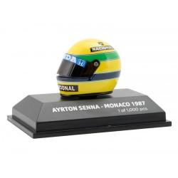 Casque 1/8 Ayrton Senna F1 Monaco 1987 Minichamps 543380712