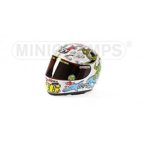 Casque 1/2 AGV Valentino Rossi Moto GP Valencia 2005 Minichamps 327050086