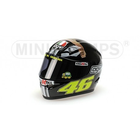 casque 1 2 agv valentino rossi moto gp test jerez 2007 minichamps 327070046 miniatures minichamps. Black Bedroom Furniture Sets. Home Design Ideas