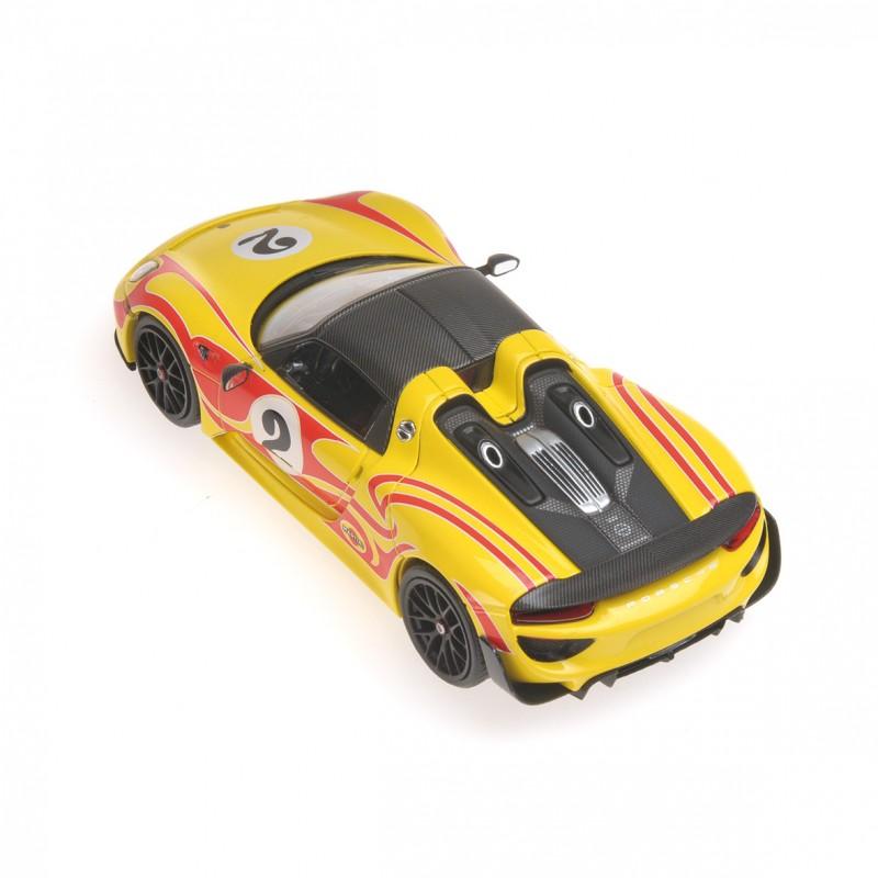 Minichamps 1:43 Porsche 918 Spyder /'Weissach package w//kyalami racing Design
