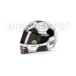 Casque 1/2 AGV Valentino Rossi Moto GP Barcelone 2008 Minichamps 328080086