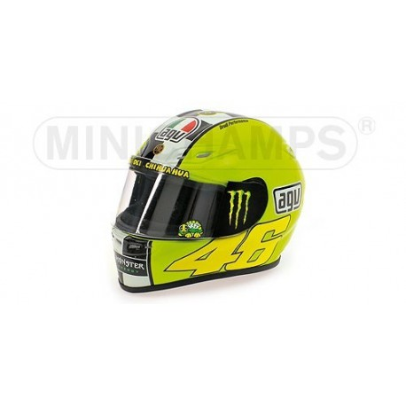 casque 1 2 agv valentino rossi moto gp winter test 2009 minichamps 328090086 miniatures minichamps. Black Bedroom Furniture Sets. Home Design Ideas