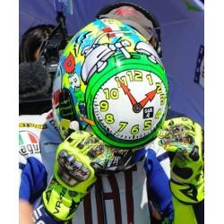 Casque 1/2 AGV Valentino Rossi Moto GP Misano 2010 Minichamps 328100056