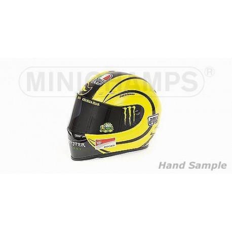 Casque 1/2 AGV Valentino Rossi Moto GP Ducati Test Valencia 2010 Minichamps 328100066