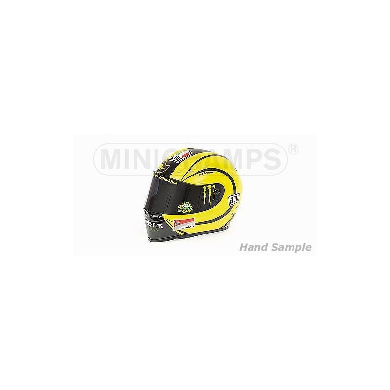 casque 1 2 agv valentino rossi moto gp ducati test valencia 2010 minichamps 328100066. Black Bedroom Furniture Sets. Home Design Ideas