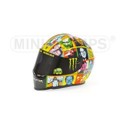 Casque 1/2 AGV Valentino Rossi Moto GP Laguna Seca 2010 Minichamps 328100096