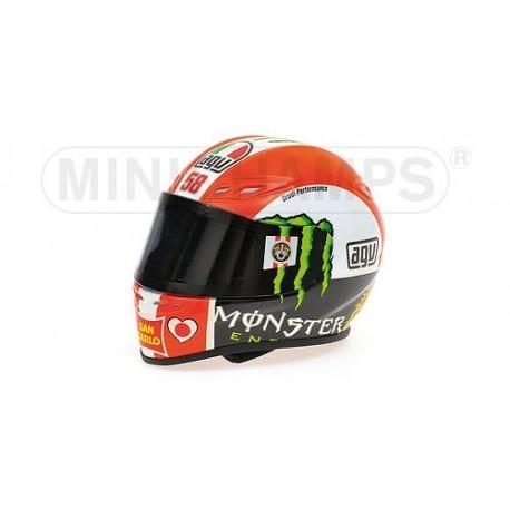 Casque 1/2 AGV Marco Simoncelli Moto GP 2011 Minichamps 328110058
