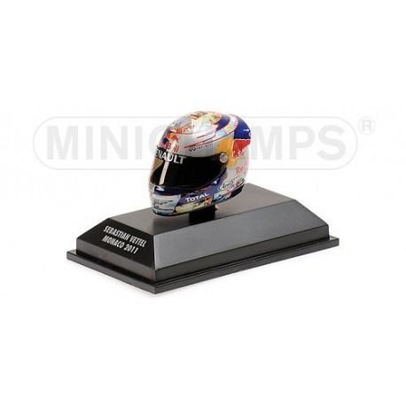 Casque 1/8 Arai Sebastian Vettel F1 Monaco 2011 Minichamps 381110101