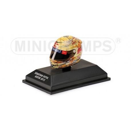 Casque 1/8 Arai Sebastian Vettel F1 Austin 2012 Minichamps 381120101