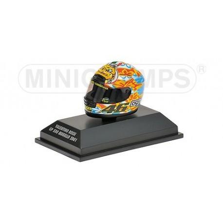 Casque 1/8 AGV Valentino Rossi GP 500 Mugello 2001 Minichamps 397010076