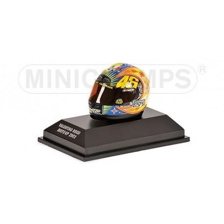 Casque 1/8 AGV Valentino Rossi Moto GP 2002 Minichamps 397020046