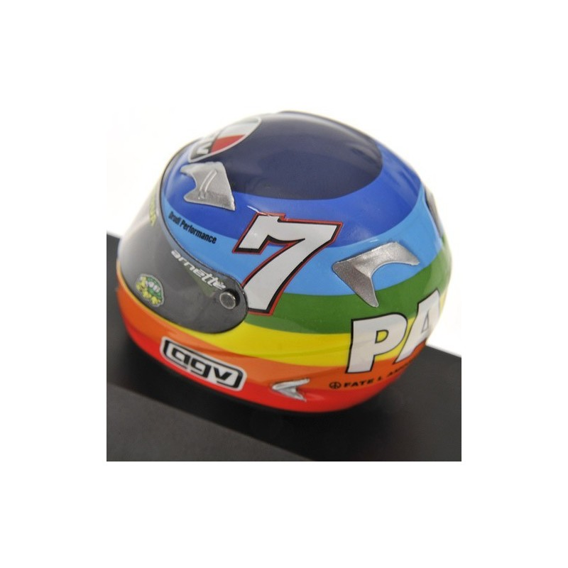 casque 1 8 agv valentino rossi moto gp winter test 2003 minichamps 397030099 miniatures minichamps. Black Bedroom Furniture Sets. Home Design Ideas