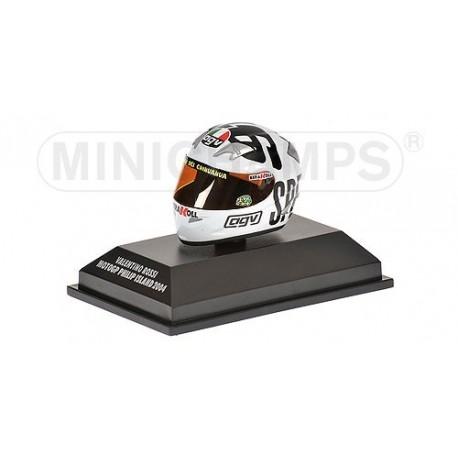 Casque 1/8 AGV Valentino Rossi Moto GP Philip Island 2004 Minichamps 397040096