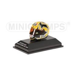Casque 1/8 AGV Valentino Rossi Moto GP Laguna Seca 2005 Minichamps 397050096