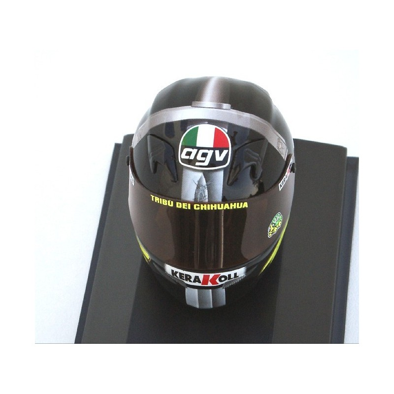 casque 1 8 agv valentino rossi motogp test jerez 2007 minichamps 397079046 miniatures minichamps. Black Bedroom Furniture Sets. Home Design Ideas