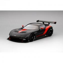 Aston Martin Vulcan noire matt avec bandes rouges Truescale TS0145