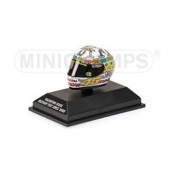 """Casque 1/8 AGV Valentino Rossi """"Compleanno Vale"""" 2008 Minichamps 398080026"""