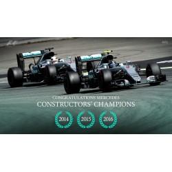 Set Mercedes W07 Hybrid Constructor World Champion F1 2016 Minichamps 412164406