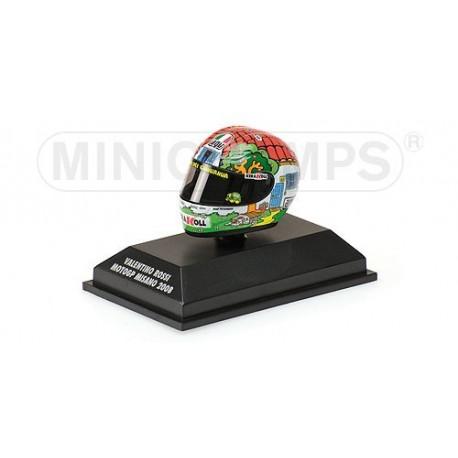 Casque 1/8 AGV Valentino Rossi Moto GP Misano 2008 Minichamps 398080056