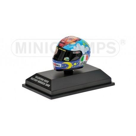Casque 1/8 AGV Valentino Rossi Moto GP Mugello 2008 Minichamps 398080076