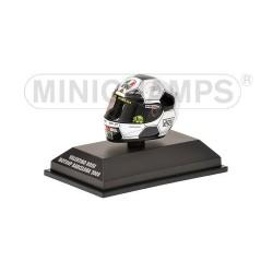 Casque 1/8 AGV Valentino Rossi Moto GP Barcelone 2008 Minichamps 398080086