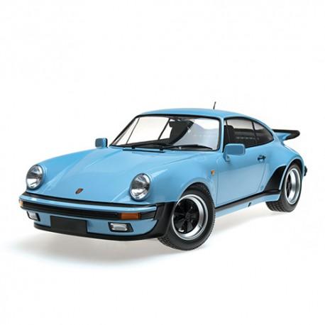 Porsche 911 Turbo 1977 Bleu Gulf Minichamps 125066105