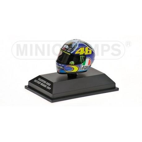 Casque 1/8 AGV Valentino Rossi Moto GP Misano 2009 Minichamps 398090056