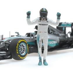 Mercedes F1 W07 Hybrid F1 World Champion 2016 Nico Rosberg Avec figurine Minichamps 410160806