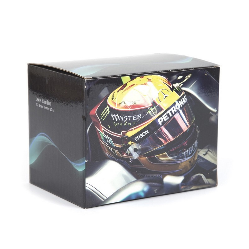 casque 1 2 lewis hamilton f1 2017 bell miniatures minichamps. Black Bedroom Furniture Sets. Home Design Ideas