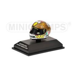Casque 1/8 AGV Valentino Rossi Moto GP Valencia 2009 Minichamps 398090066