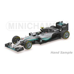 Mercedes F1 W07 Hybrid Grand Prix d'Abu Dhabi 2016 Nico Rosberg Minichamps 110160706