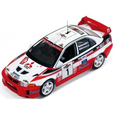 Mitsubishi Lancer Evo V 1 WRC Sanremo 1998 Makinen Mannisenmaki IXO RAM521