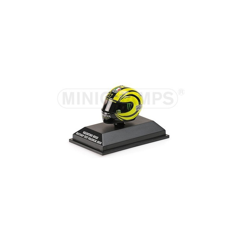 casque 1 8 agv valentino rossi moto gp ducati test valencia 2010 minichamps 398100066. Black Bedroom Furniture Sets. Home Design Ideas