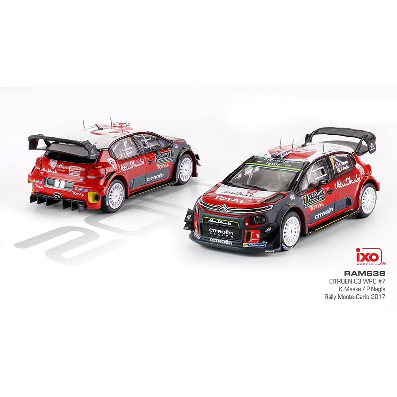 citroen c3 wrc 7 rallye monte carlo 2017 meeke nagle ixo ram638 miniatures minichamps. Black Bedroom Furniture Sets. Home Design Ideas