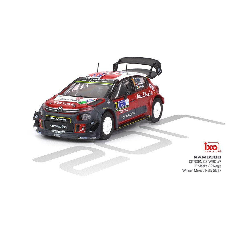 citroen c3 wrc 7 rallye mexique 2017 meeke nagle ixo ram638b miniatures minichamps. Black Bedroom Furniture Sets. Home Design Ideas
