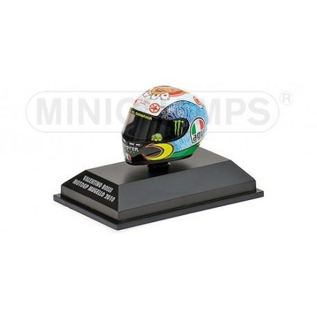 Casque 1/8 AGV Valentino Rossi Moto GP Mugello 2010 Minichamps 398100076