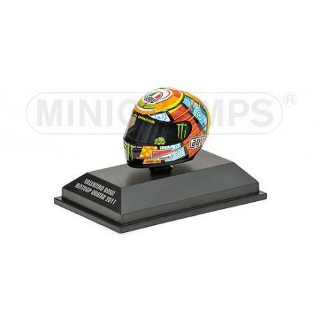 Casque 1/8 AGV Valentino Rossi Moto GP Qatar 2011 Minichamps 398110056