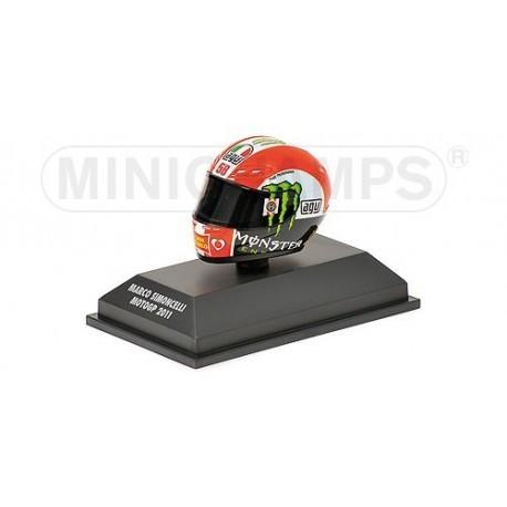 Casque 1/8 AGV Marco Simoncelli Moto GP 2011 Minichamps 398110058