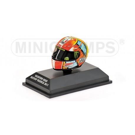 Casque 1/8 AGV Valentino Rossi Moto GP Valencia 2011 Minichamps 398110066