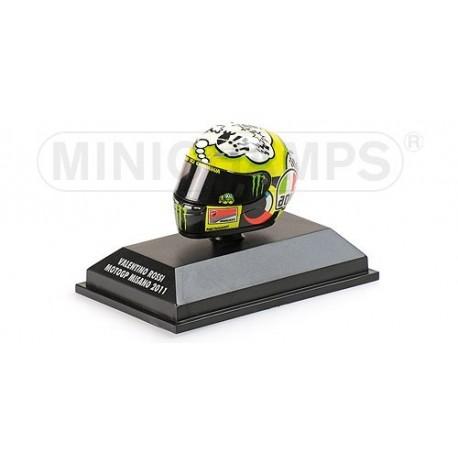 Casque 1/8 AGV Valentino Rossi Moto GP Misano 2011 Minichamps 398110076